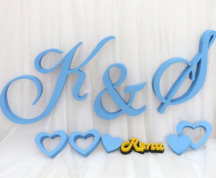 Litery na wesele, monogramy, inicjały ślubne K&S
