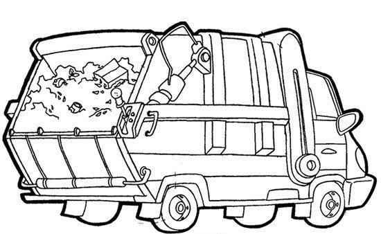 camion poubelle coloriage coloriage pinterest. Black Bedroom Furniture Sets. Home Design Ideas