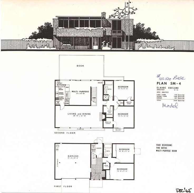15 Best Mid Century Floor Plans Images On Pinterest