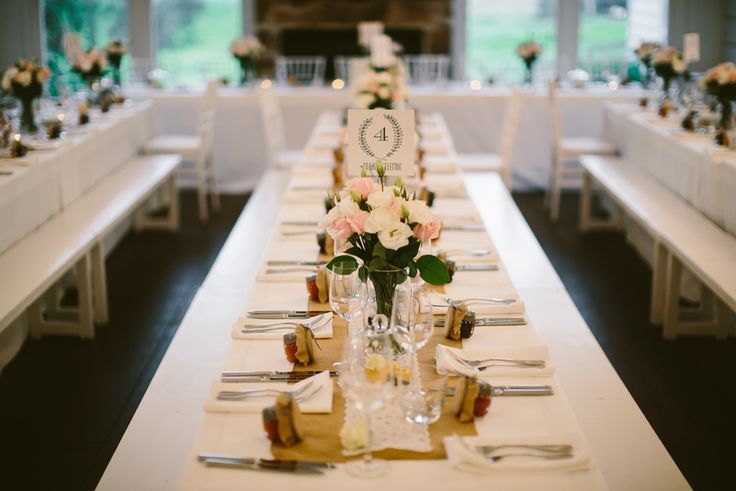 Elegant country table setting for a beautiful Mindaribba House Hunter Valley wedding. Image: Cavanagh Photography