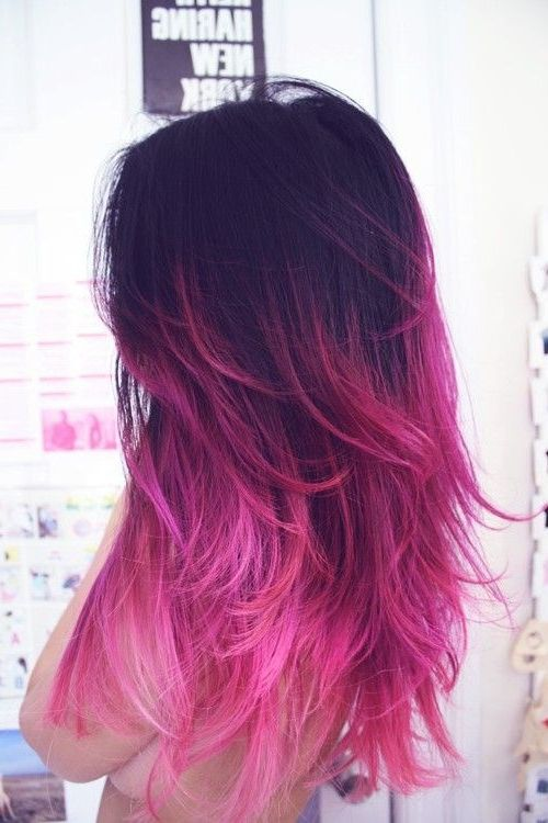 ombre hair tumblr brown to purple - Google Search
