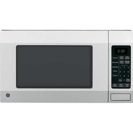 GE 1.6 cu. ft. Countertop Microwave Oven, Stainless, Silver