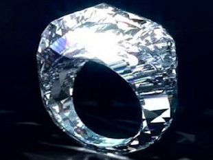 "World's first all diamond ring: A Real diamond RING (150-carat) Worth 70 million dollars. Will you say ""I do"" to this ring?"
