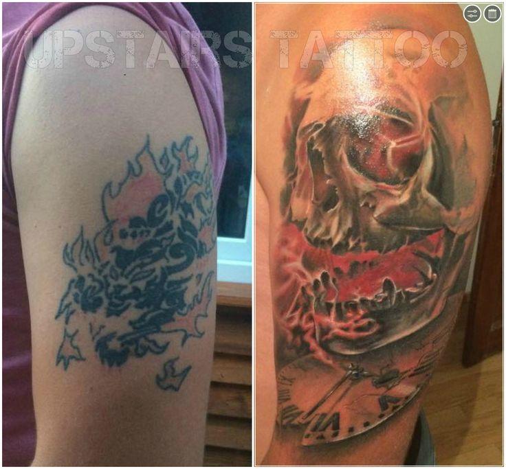 Cover tattoo by Bizduianu Mihai #skull #tattoo