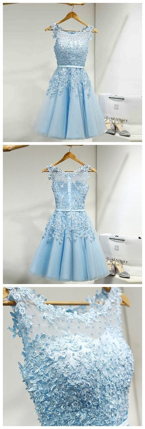 Tulle Homecoming Dress,Appliques Homecoming Dresses,Short Homecoming Dress,Prom Party