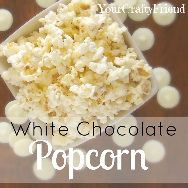 Just the right amounts of sweet, buttery, salty and addictive!! Via Your Crafty Friend: White Chocolate Popcorn (HoH145)