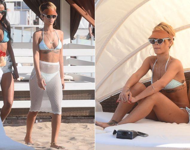 Rihanna w Sopocie w miniony weekend. Na spotkanie na plaży wpadły dziewczyny z Local Heroes! #congrats