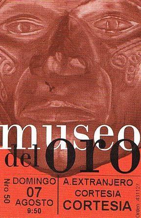 Museo del Oro entrance ticket