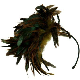Peacock Multi Color Fascinator - Yellow OSFM W24S51B SS/Sophia. $29.99
