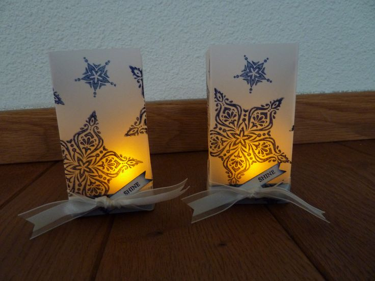 Luminaries with Bright & Beautiful. The luminaries are not my idea, but I gave it a twist with the new stamps.