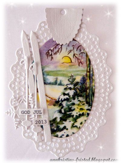 christmas tag - marianne design - scrapping.no