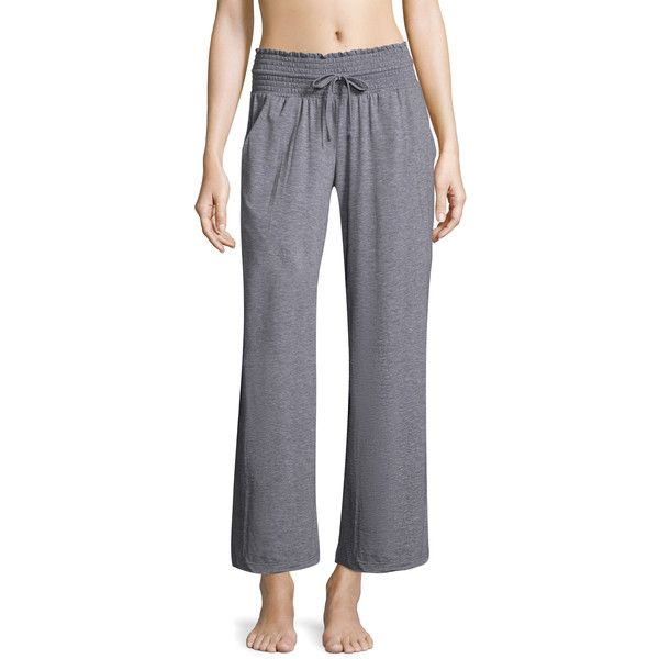 C&C California Women's Elasticized Waistband Pants - Light/Pastel... ($25) ❤ liked on Polyvore featuring pants, pastel pants, gray high waisted pants, grey high waisted trousers, gray pants and gray trousers