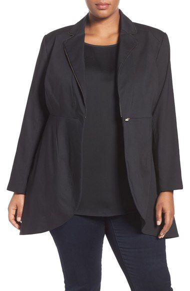 1x Melissa McCarthy Seven7 Double Cloth Tuxedo Blazer (Plus Size) available at #Nordstrom