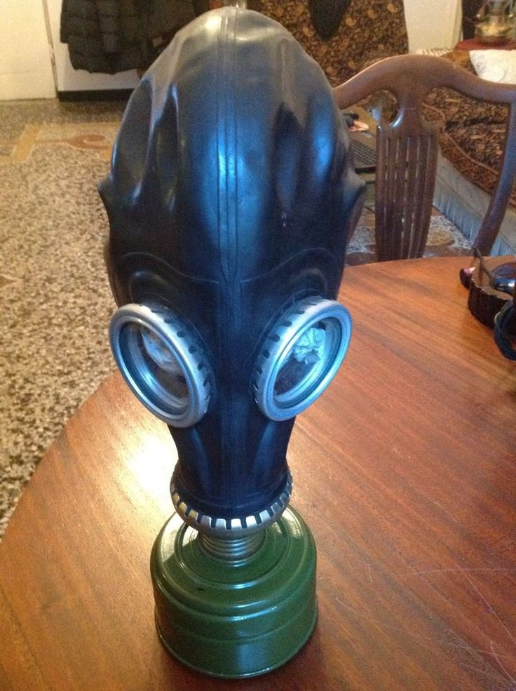 VINTAGE RUSSIAN GAS MASK GP5 - NUCLEAR - BLACK
