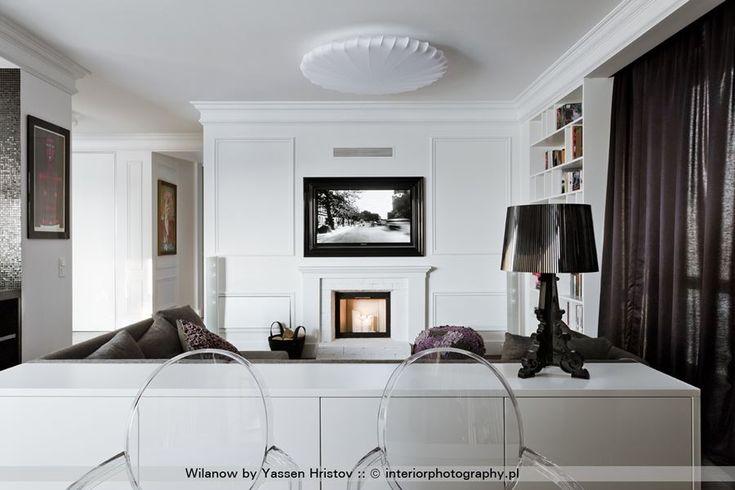 Kuchnia połączona z salonem w stylu modern classic - Trzop Architekci - HomeSquare