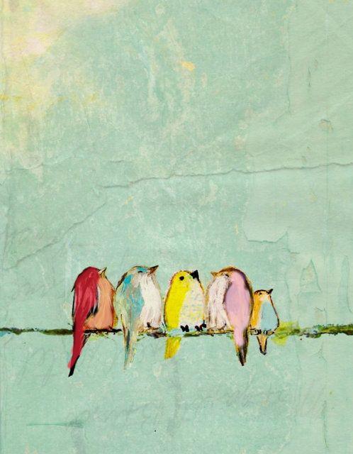 goldhunterbysybarite: pastel birds