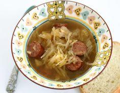 Sauerkraut Soup with Kielbasa