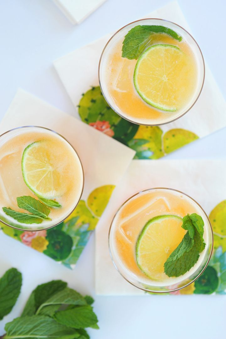 Here's a refreshing cocktail that you're going to want to make all summer long. Get ready to love this Cantaloupe Margarita Recipe.