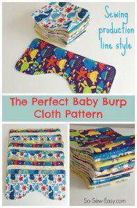 O bebê arrotar padrão de pano perfeito, e como costurá-los estilo de linha de produção.