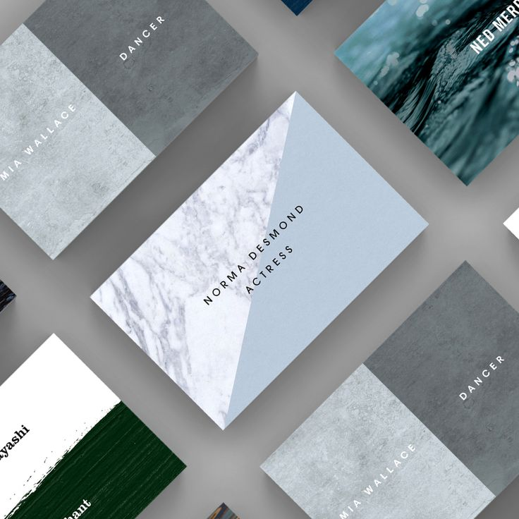 A selection of Texture business card templates available to customise and order on our site.
