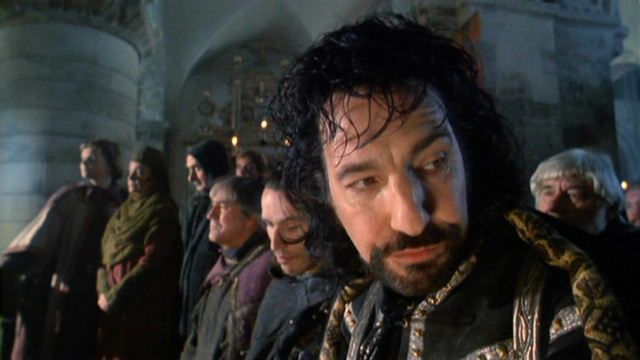 "Alan Rickman as the sheriff in ""Robin Hood: Prince Of Thieves"". 1991"