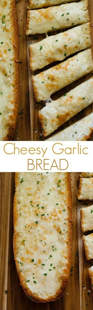 Cheesy Garlic Bread AKA. The best bread ever! Only 4 ingredients!
