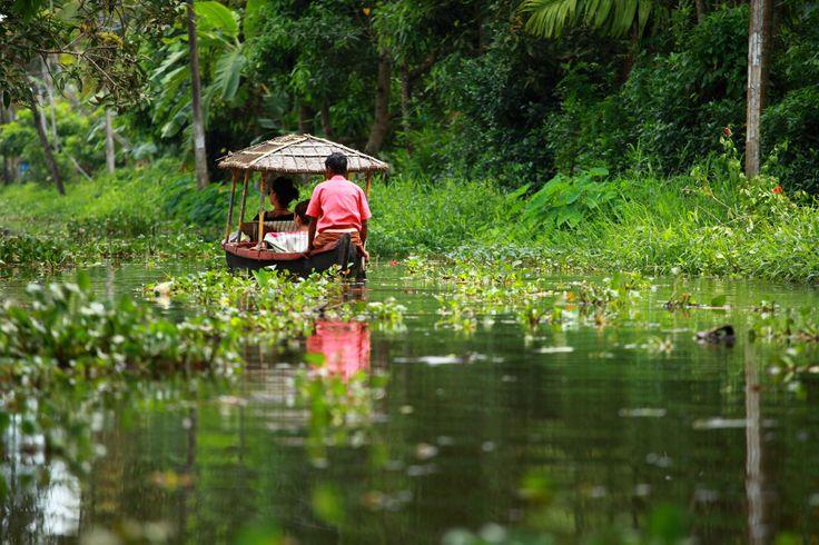 #Backwaters in #Cochin, una rete di laghi e lagune nello stato del #Kerala, #India del Sud.  #travel #viaggi