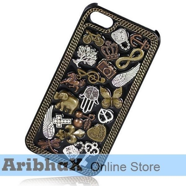 9 days only. Novelty Embossed Vintage Pattern Back Case Iphone 5 Black #UnbrandedGeneric