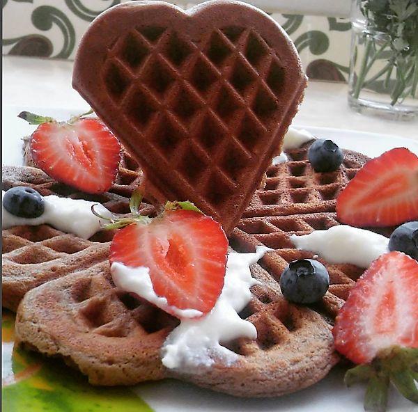Dieta Sim, todos os Dias: Waffles de chocolate low carb