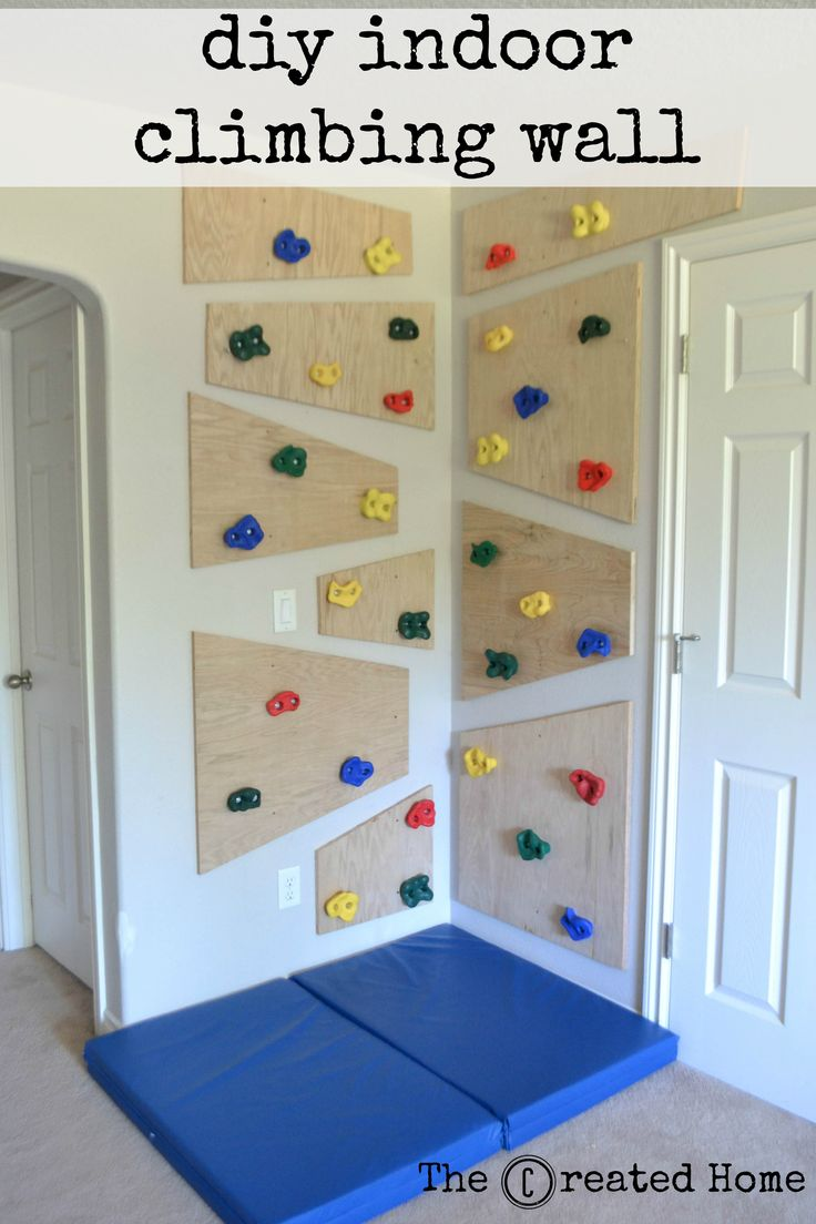 how to build a simple adaptable indoor climbing wall playroom wall decorplayroom closetsunroom playroomboys - Ideas For Decorating A Boys Bedroom