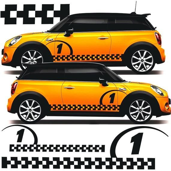 BMW Mini Cooper S works Side stripes Decals Stickers Graphics any colour