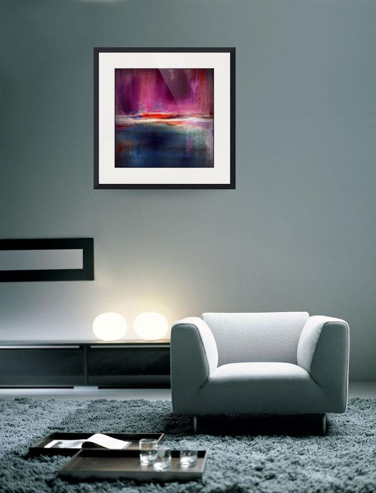 Romance – Purple and Blue Urban Art Print– Luxe Home Decor