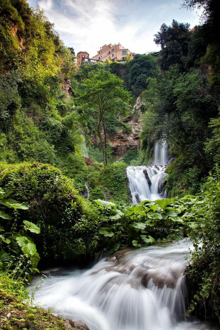 Villa Gregoriana waterfalls, Tivoli, Lazio, Italy