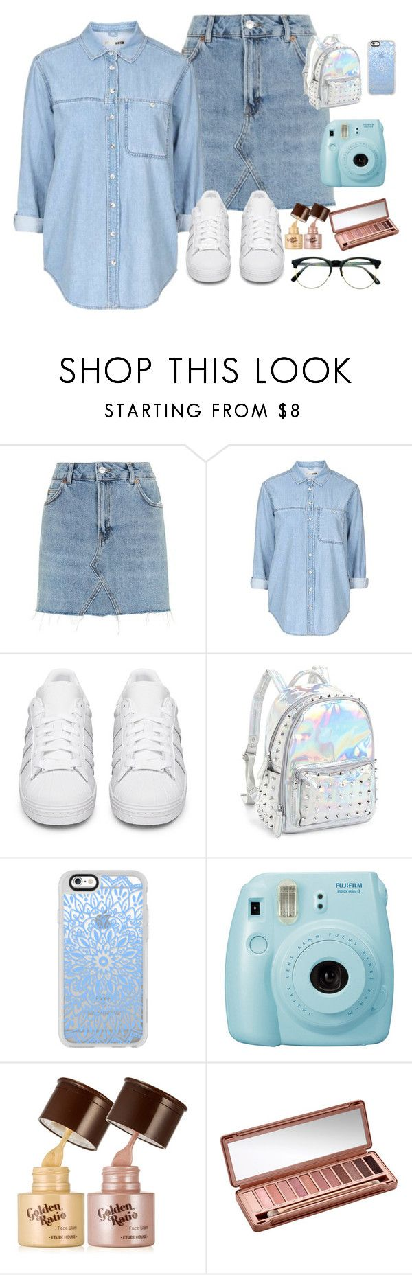 """""""162. Prayer Meeting Contest"""" by lifeissweet170000 ❤ liked on Polyvore featuring Topshop, adidas Originals, Bari Lynn, Casetify, Fujifilm, Urban Decay and Retrò"""