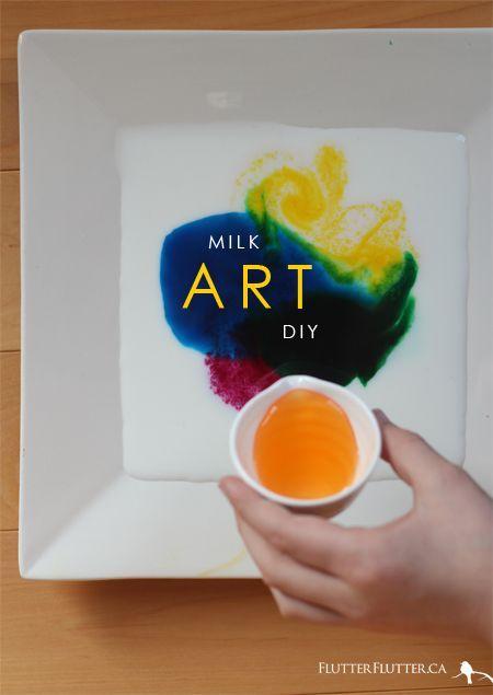 Spring Break DIY: Milk Art | FLUTTER FLUTTER