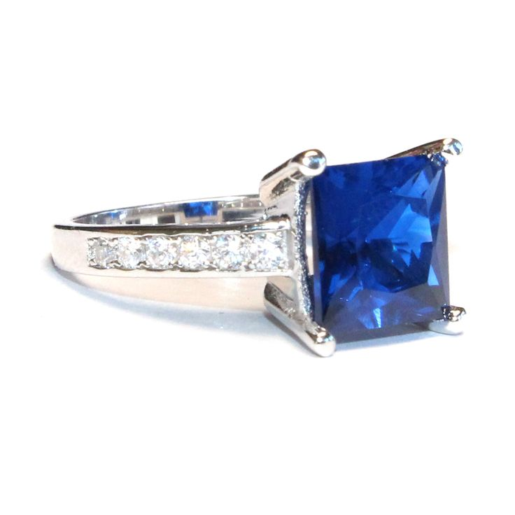 white sapphire ring on band s men wanelo shop promise rings wedding mens princess bands blue gold