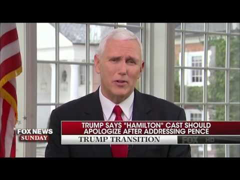 Mike Pence: I Wasn't Offended by Message from Hamilton-Mike Pense-Man of class and good character.  .