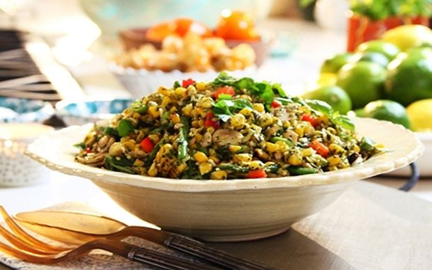 Try Siba's Braaied Corn Salad with Basil Pesto Dressing at Fine Living EMEA