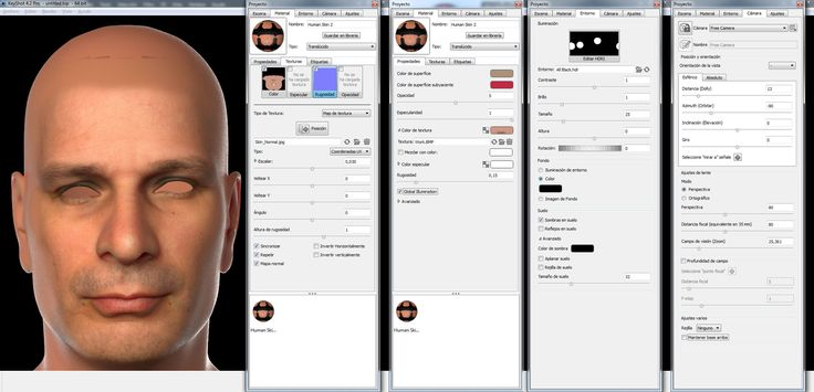 keyshot skin texture settings