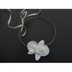 Couronne de fleur Orchidée ivoire