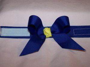 t-shirt sleeve holders!! =)  simple ribbon ties...for the BUDDY WALK!!!! =)