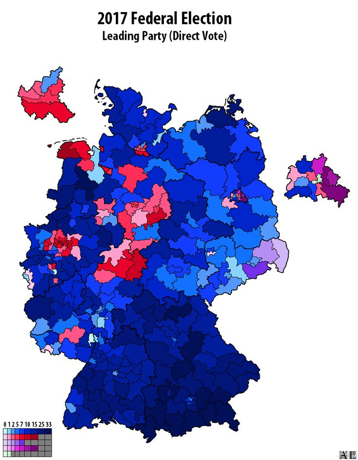 Map of Federal Election (Germany 2017.09.24)