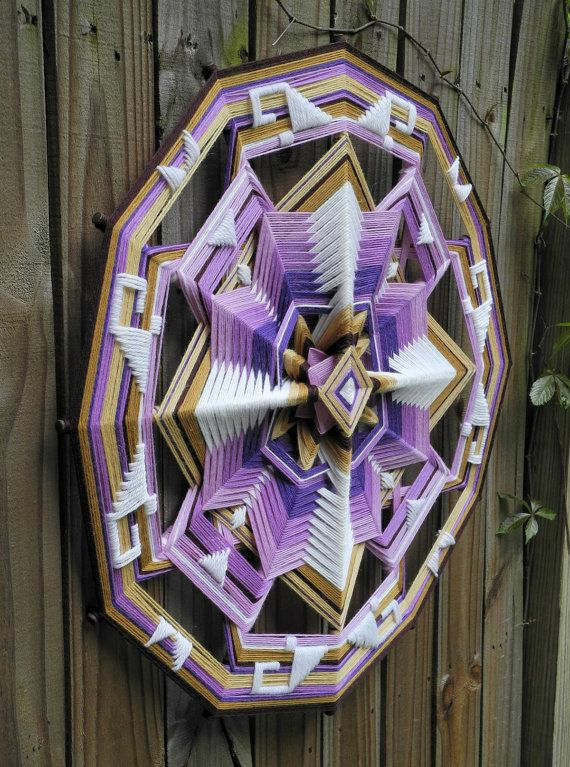 Peace Within a 24 inch wool yarn Ojo de Dios by by JaysMandalas