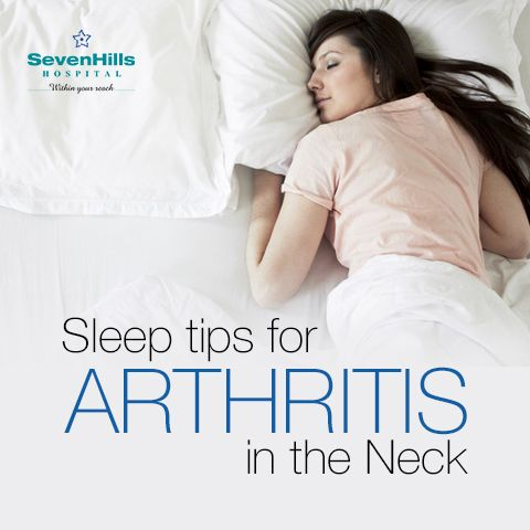 Sleep Tips for #Arthritis in the Neck:  1- Sleep in Spinal Alignment 2- Avoid Sleeping On Your Stomach 3- Choose the Right Pillow 4- Avoid Neck Collapse with a Collar