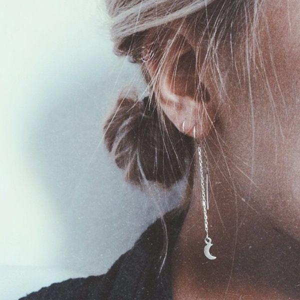 Obsessed! #BingBangNYC 'Little Moon Threaders' in delicate sterling silver.