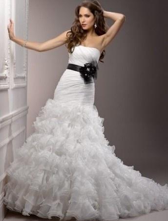 Tiered Ruffle Skirt Wedding Dresses Pinterest