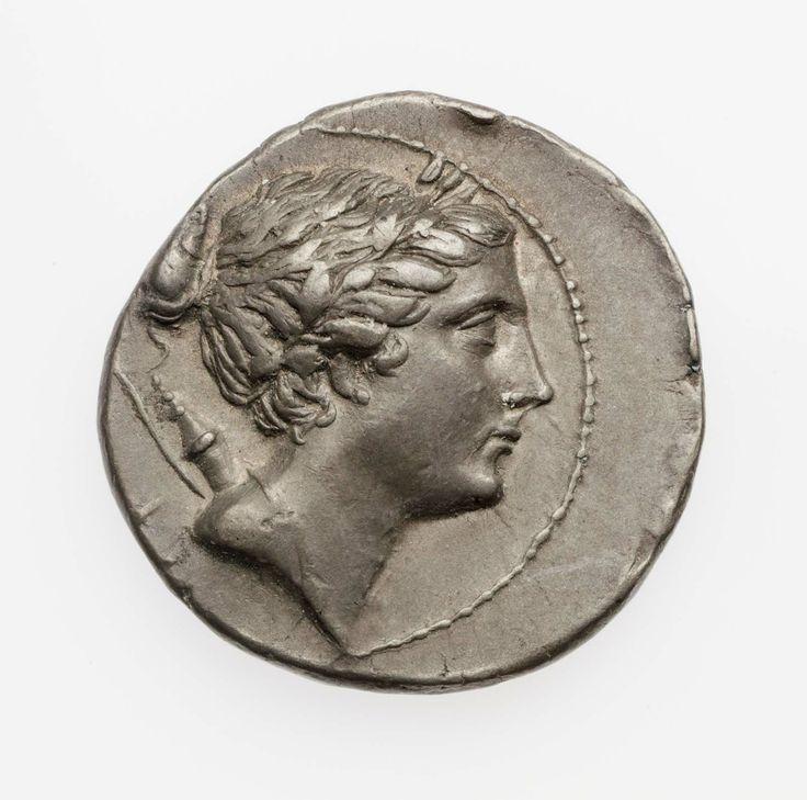 Statere - argento - Lega Etolica (279-168 a.C.) - Artemide con corona di alloro di profilo vs.dx.con faretra e arco alla spalla - Museum of Fine Arts, Boston