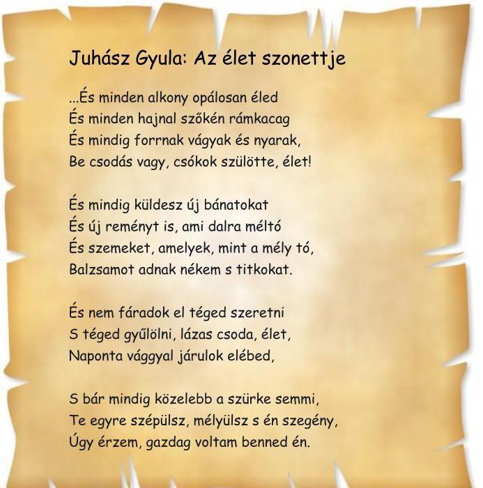 Juhász Gyula: Az élet szonettje