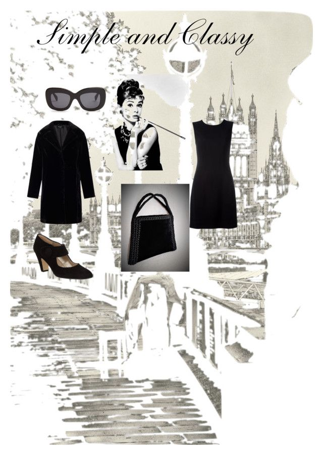 Simple and classy by mariliart on Polyvore featuring Versace, Miss Selfridge, John Lewis, CÉLINE, Luxo and vintage and @MariliartbyM