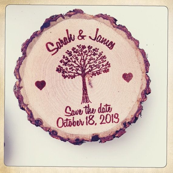 50 Custom Save The Date/Wedding Favor Wood by RedCloudBoutique